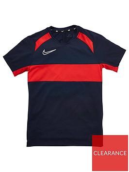 nike-boys-academy-gx-short-sleeved-t-shirt-navyred