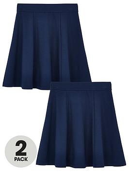 v-by-very-girls-2-pack-jersey-school-skater-skirts-navy