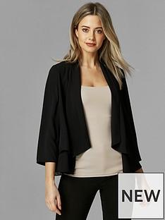 wallis-petite-waterfall-jacket-black
