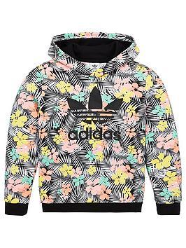 adidas-originals-childrens-overhead-hoodie-black