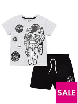 nasa-boysnbspshorty-pyjamas-grey