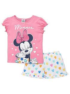 minnie-mouse-girls-heart-shorty-pyjamas-pink