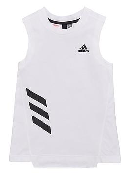 adidas-junior-girls-xfg-tank-white