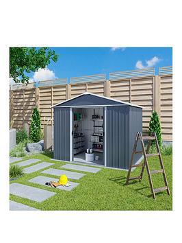 Yardmaster 10 X 8 Feet Castleton Apex Roof Metal Shed