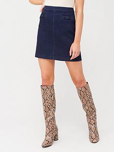 oasis-bow-skirt-dark-wash