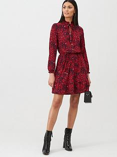 oasis-heart-shirt-blouse-dress-red