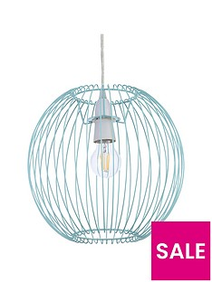 columbia-easy-fit-wire-lightshade-ndash-blue