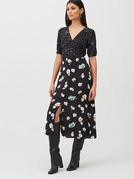 oasis-merci-floral-patched-midi-dress-blacknbsp