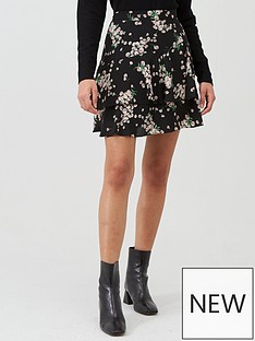 oasis-dandelion-flippy-skirt-black