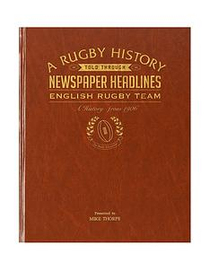a4-england-rugby-history-newspaper-headlines-premium-hardback-cover