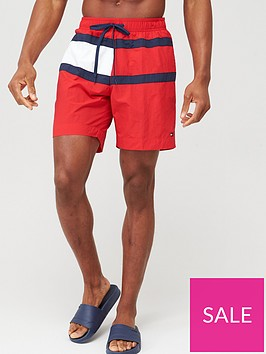 tommy-hilfiger-longer-length-swimshort-red
