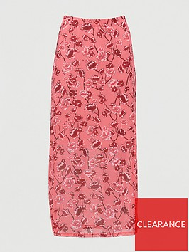 v-by-very-mesh-midi-skirt-pink-print