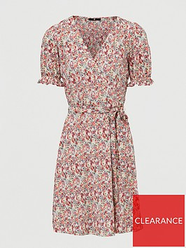 v-by-very-plisse-floral-wrap-mini-dress-pink-print