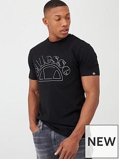 ellesse-opizzi-debossed-t-shirt-black