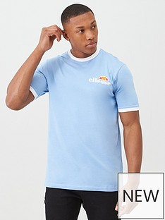 ellesse-agrigento-ringer-t-shirt-light-blue