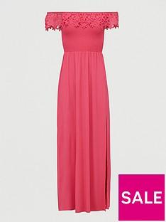 v-by-very-broderie-trim-bardot-maxi-dress-pink