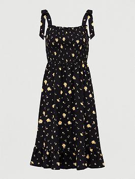 v-by-very-tie-shoulder-floaty-frill-midi-dress-black-floral