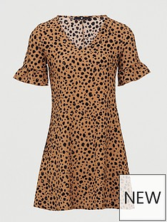v-by-very-printed-tea-dress-animal-print