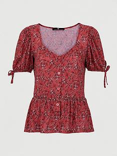 v-by-very-button-through-floral-paisley-top-burgundy