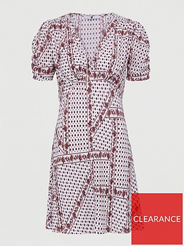 v-by-very-plisse-mini-button-through-dress-white-paisley