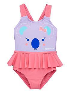 speedo-toddler-girl-koala-frill-swimsuit-pinkpurple