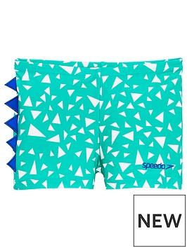 speedo-toddler-boys-croc-print-aqua-shorts-greenblue