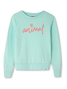 animal-girls-mila-crew-neck-sweatshirt-green