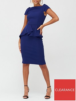 v-by-very-peplum-waist-structured-mini-dress-navy