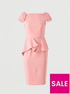 v-by-very-peplum-waist-structured-mini-dress-ndash-pink
