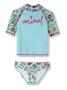 animal-girls-paddle-rash-vest-set-green
