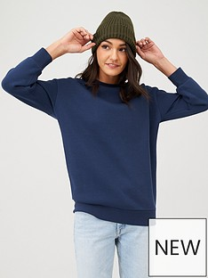 v-by-very-long-line-crew-neck-sweat-navy