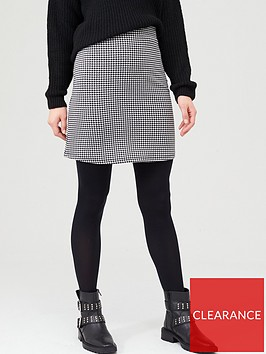 v-by-very-houndstooth-jacquard-mini-skirt-blackwhite
