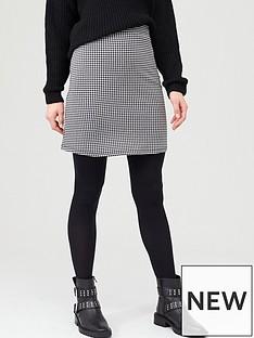 v-by-very-jacquard-mini-skirt-blackwhite-print
