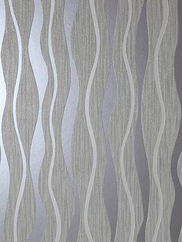 arthouse-grey-metallic-wave-wallpaper