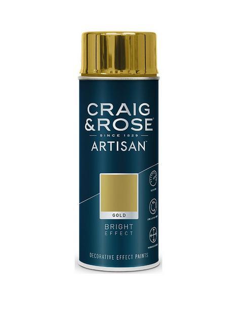 craig-rose-artisan-bright-effect-spray-paint-gold-400ml