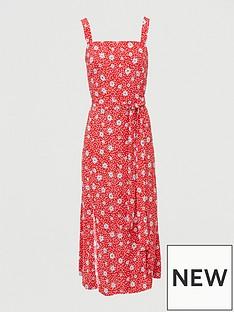 v-by-very-curve-split-hemnbspmidi-dress-print