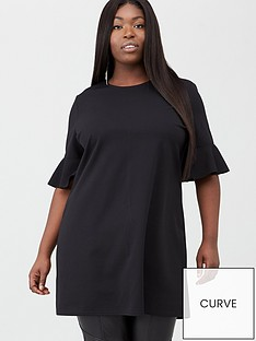 v-by-very-curve-jersey-crepe-tunic-black