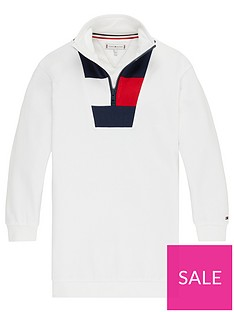 tommy-hilfiger-girls-rugby-stripe-dress-white