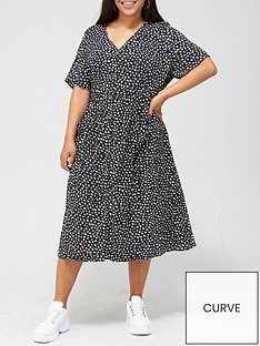 v-by-very-curve-button-through-printed-shirt-dress-multi-print