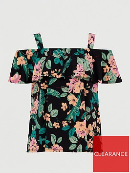 v-by-very-curve-cold-shoulder-longline-jersey-top-print