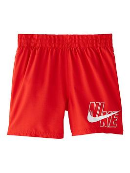 nike-boys-4-inch-logo-solid-volley-swim-shorts-red