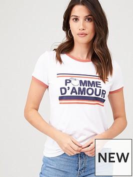 v-by-very-pomme-damour-ringer-tee-white