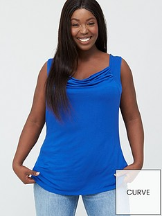 v-by-very-curve-cowl-neck-sleeveless-top-blue