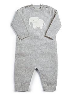 mamas-papas-unisex-elephant-knitted-sleepsuit-grey