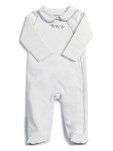 mamas-papas-unisex-collar-sleepsuit-white