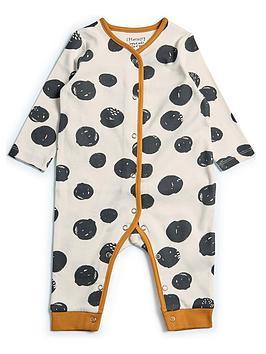 mamas-papas-baby-girls-spotted-sleepsuit-orange
