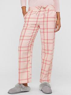 monsoon-hailey-heart-cotton-check-pj-trouser-pink