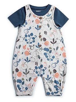 mamas-papas-baby-girls-garden-dungaree-set-blue