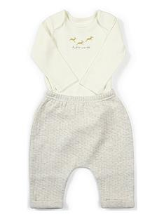 mamas-papas-baby-boys-hello-world-2-piece-set-sand