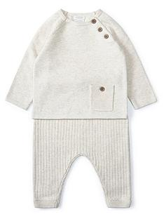 mamas-papas-baby-boys-2-piecenbspknitted-set-sand